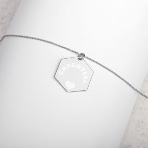 """ESSENTIAL""-Silver Hexagon Necklace"